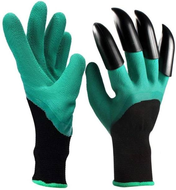 Nightstar Hand Protectors Garden Gloves with Fingertips Claws for Planting Digging Plants Pruning Gloves Gardening Shoulder Glove