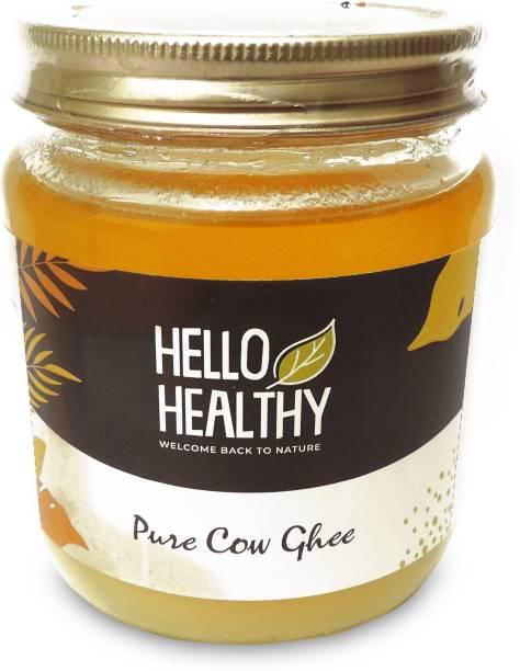 Hello Healthy Pure Cow Ghee Ghee 450 ml Glass Bottle