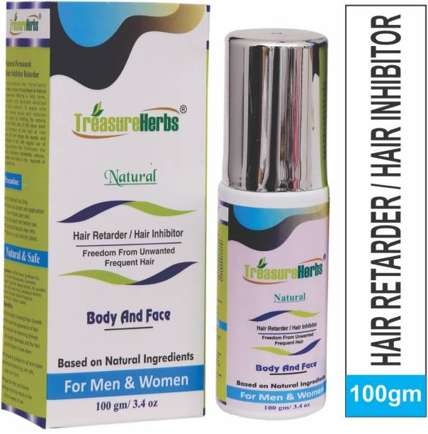 TreasureHerbs Natural Hair Inhibitor Permanent hair Reduction cream for Men & Women Cream