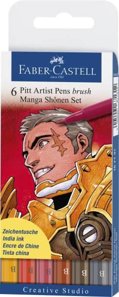 """FABER-CASTELL India Ink Pitt Artist """"B"""" Shonen Brush Pens"""