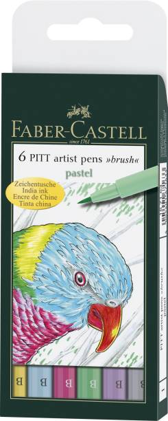 "FABER-CASTELL India Ink Pitt Artist ""B"" Pastel Brush Pens"