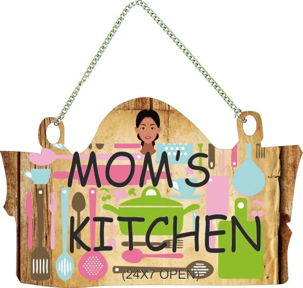 Crafts World Wooden MOM`S Kitchen Name Plate