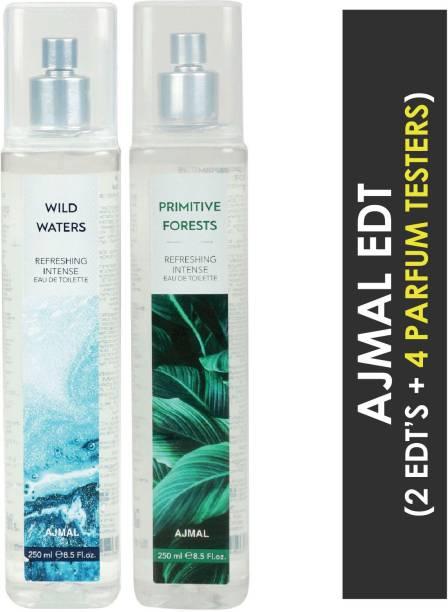 Ajmal Wild Waters & Primitive Forests + 4 Parfum Testers Eau de Toilette  -  500 ml