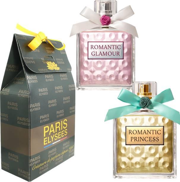 Paris Elysees Romantic Princess & Glamour Combo Perfume Eau de Parfum  -  200 ml