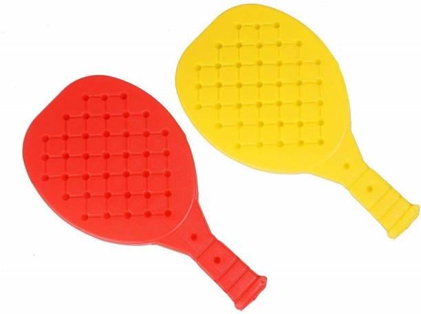 TOYROMA Kids Table Tennis Racquet Set for Kids (2 Bats 1 Ball) (Multi Color) Multicolor Strung Tennis Racquet