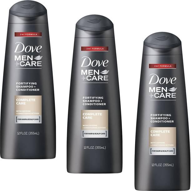 DOVE Complete Care Shampoo 355ml- 3Pcs T52