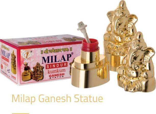 Milap Sindur Kumkum Ganesha statue Sindur (Red) Pack Of 2 Sindoor