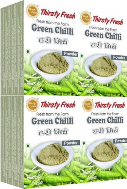 Thirsty Fresh Green Chilli Powder - (Wholesale Pack of 100gx16)