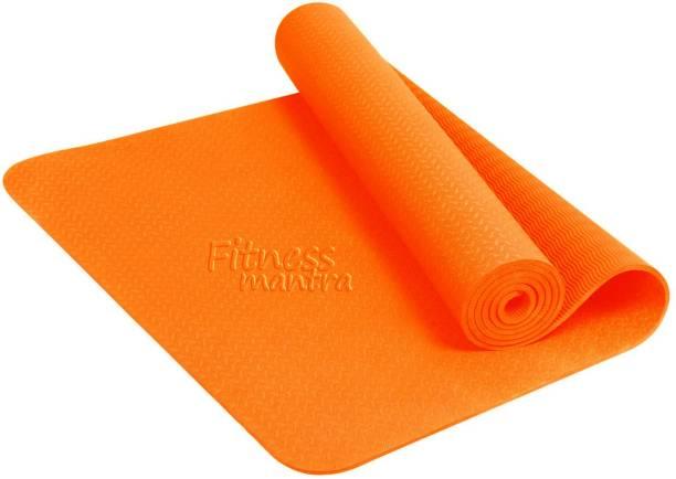 Fitness Mantra Yoga Mat High Density, Anti-Slip Yoga mat for Gym Workout Orange 6 mm Yoga Mat