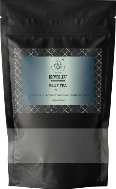 brewed leaf BLUE TEA Herbs Herbal Tea Pouch
