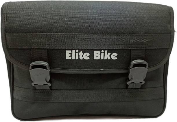 Goldline Stylish Elite Bike Bag/Motorcycle Seat Pack Bag Side Bag/18L Storage Motorcycle Saddlebag/Polyester & Water Resistant Portable Bike Bag One-side Black Fabric Motorbike Saddlebag