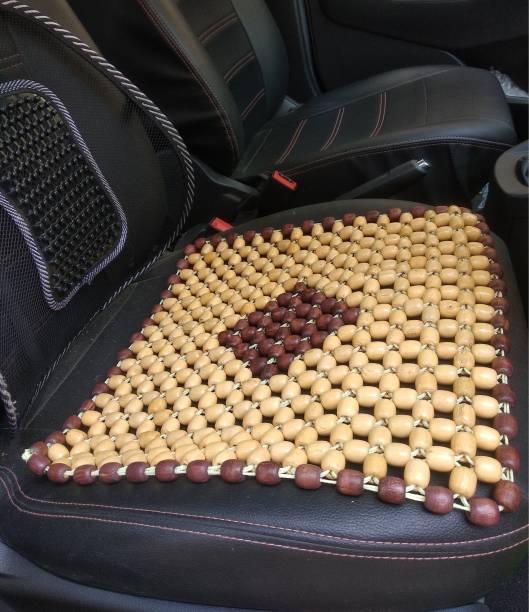 Q1 Beads Wooden Bead Seating Pad For  Volkswagen, Mahindra, Maruti Suzuki, Hyundai, Toyota, Ford, Tata, Honda, Jeep Swift Dzire, Alto, i10 Active, Bolero, Ciaz, Universal For Car