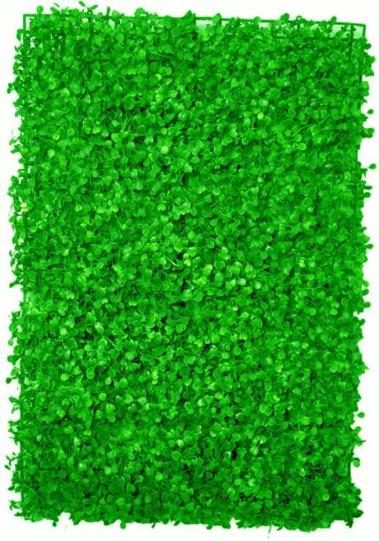 Laddu Gopal Artificial Small Leaves Vertical Wall Grass Tiles for Home & Balcony Decoration (60X40 cm Set of 1, Colour: Green) Green Dried Sticks Artificial Flower