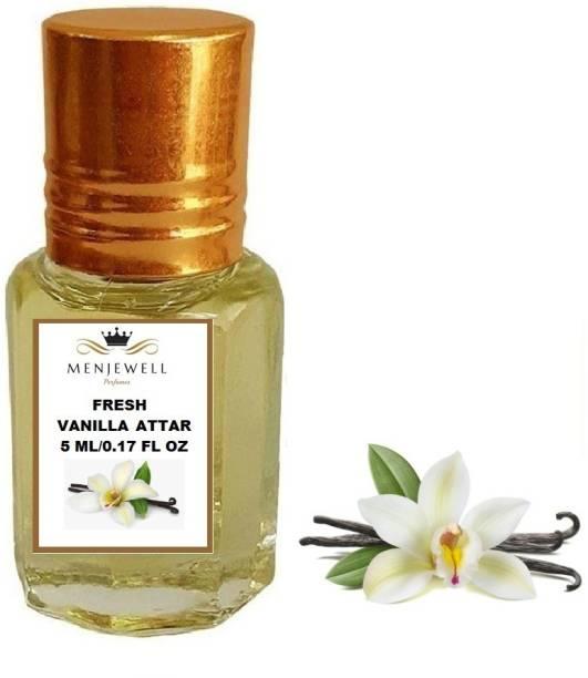Menjewell Fragrances Fresh Vanilla (Natural / Attar/ Perfume ) Floral Attar 5ml Floral Attar