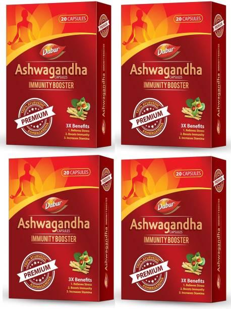 Dabur Ashwagandha Immunity Booster Premium Capsules (Pack of 4)
