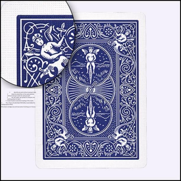 R.s.Magic Tricks Marked Card (Blue Back Bicycle Design) Cheating Playing Cards magic