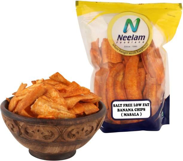 Neelam Foodland Salt Free Low Fat Masala Banana Chips, 400G Chips