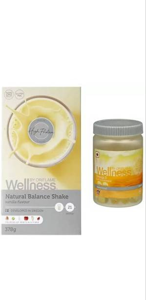 Oriflame vanilla flavour nutrishake and omega 3 health set