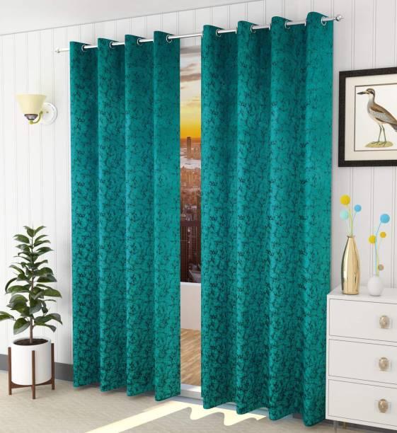Lucacci 153 cm (5 ft) Velvet Window Curtain (Pack Of 2)