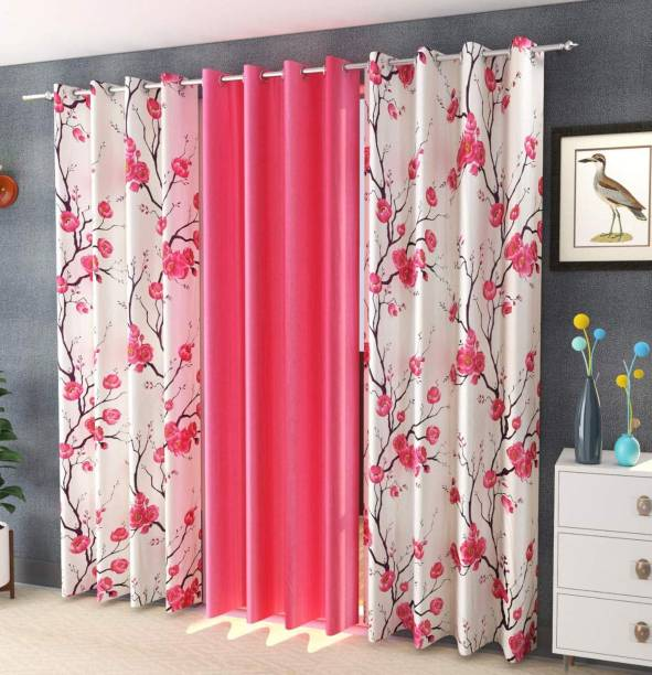 Home Utsav 153 cm (5 ft) Polyester Window Curtain (Pack Of 3)
