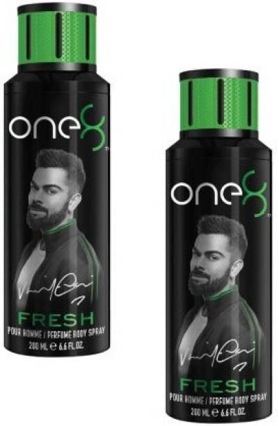 one8 by Virat Kohli Fresh Body Spray 200ml - 2Pcs VB30 Body Spray  -  For Men