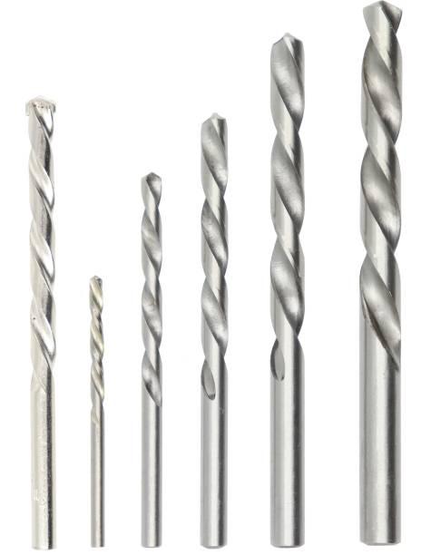 Hillgrove Most Running 6Pcs(5Pcs Hss + 1Pc Masonry) Drill Bit Set for Metal/Concrete/Wall/Steel/All Purpose