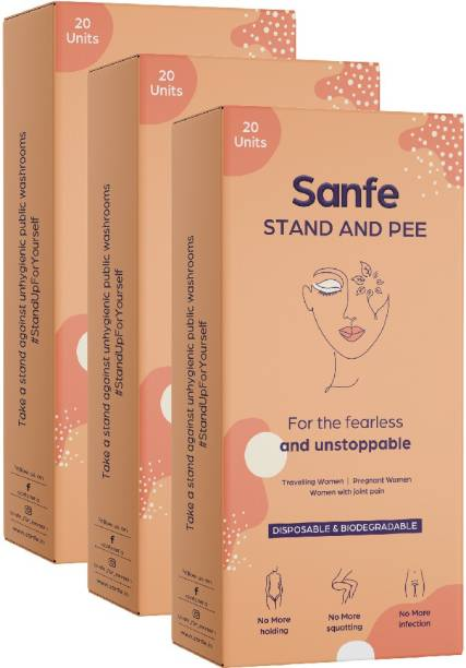 Sanfe Stand And Pee For Women (3 X 20 Units) Disposable Female Urination Device Disposable Female Urination Device