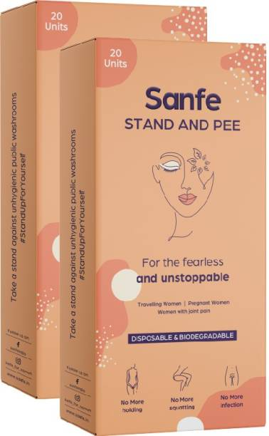 Sanfe Stand And Pee For Women (2 X 20 Units) Disposable Female Urination Device Disposable Female Urination Device