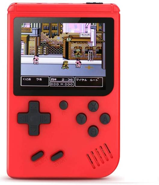 LUKECAGE Best collection Handheld Game Console, Retro Mini Game Player with 400 Classical FC Games 2.8-Inch Color Screen Support for Connecting TV & Two Players 800mAh Rechargeable Battery Present for Kids and Adult NA GB with Mario, Contra, All Old Game