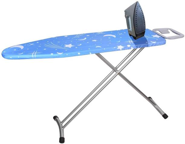 Plantex Extra Wide Adjustable Height Ironing Stand/Folding Ironing Board with Steam Iron Rest - Blue Ironing Board
