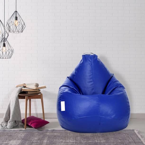 Flipkart Perfect Homes Studio Semi Aniline Leather XL Teardrop Kid Bean Bag