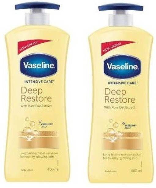 Vaseline New Intensive Care Deep Restore body Lotion 400ml pack of 2 (800 ml)