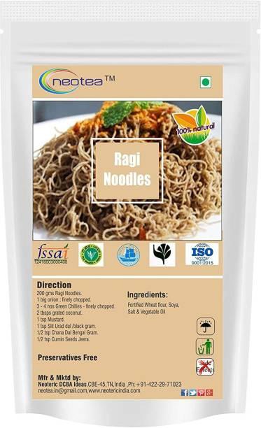 Neotea Delicious Ragi Noodles - 300g Each Pack of 2 ( Total 600 g ) Instant Noodles Vegetarian