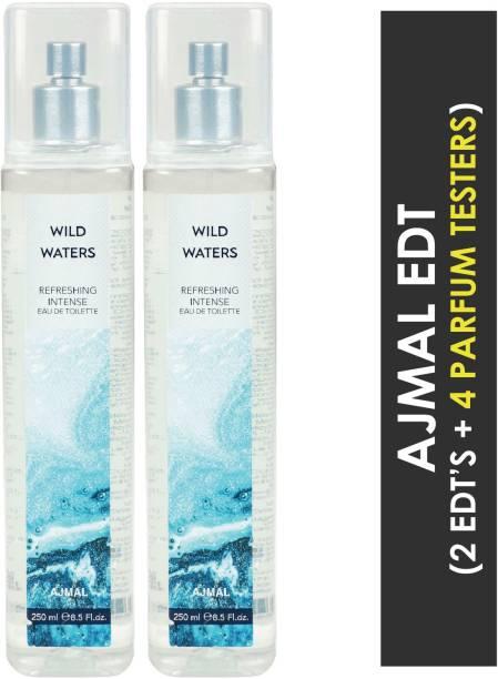Ajmal Wild Waters + 4 Parfum Testers Eau de Toilette  -  500 ml