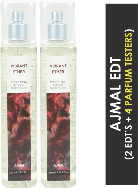 Ajmal Vibrant Ether + 4 Parfum Testers Eau de Toilette  -  500 ml