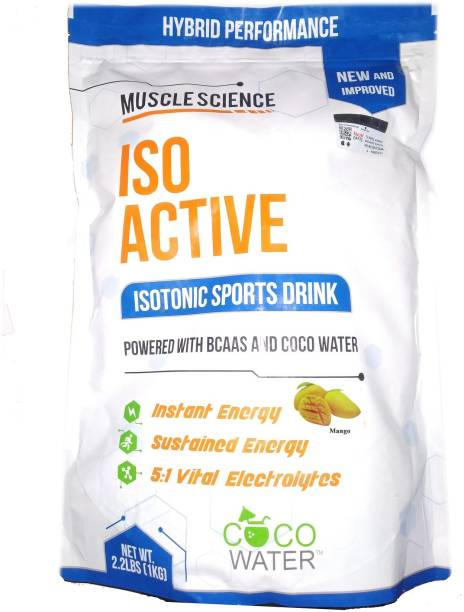 Muscle Science Iso Active Isotonic Sports Drink Instant Energy Formula Extended Workout BCAA