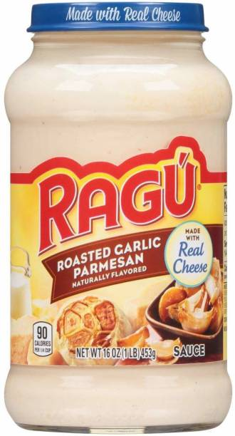 Ragu Cheesy Roasted Garlic Parmesan Sauce-453gm (Imported) (Pack of 1) Sauces