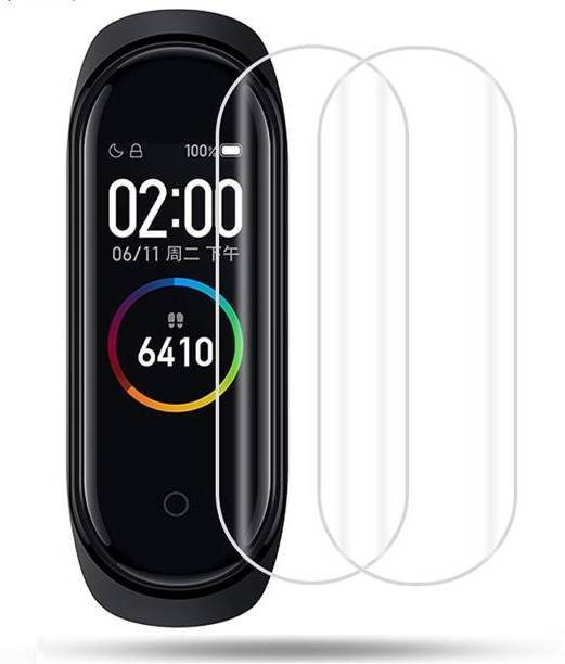 Olonga Screen Guard for mi band 4 ( 2 Screen Gurad Scratch Less TPU )