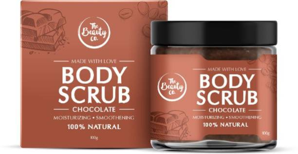 The Beauty Co. Chocolate & Coffee Body Scrub, | 100% Natural | Coffee | Argan | Coconut | Paraben & SLS Free Scrub