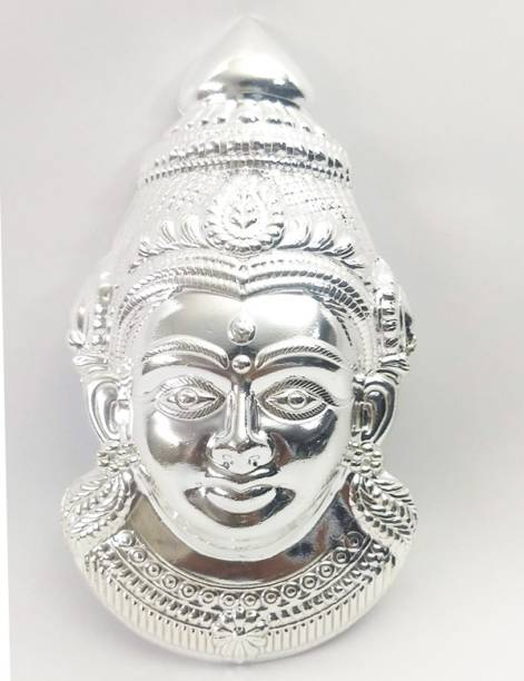 lugade's Silver Coated Lakshmi Mukhota Decorative Showpiece  -  16 cm