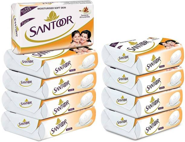 santoor SANDAL & ALMOND MILK MOISTURISED SOFT SKIN SOAP