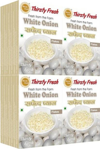 Thirsty Fresh White Onion Flakes - (Wholesale Pack of 100gx16)