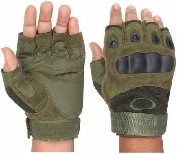 NIKROKZ Half Finger Tactical Gloves Military Army Shooting Hunting Climbing Cycling Gym Riding Gloves