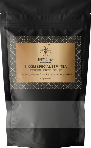 brewed leaf SIKKIM SPECIAL TEMI TEA Black Tea Pouch