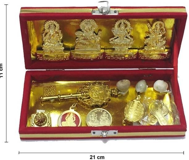 Gokulshoppe Laxmi Kuber Dhan Varsha Bhandari Yantra Brass Yantra