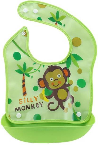Adore Baby Premium PVC Bib with Spill Catcher - Easy Fit - Washable - Velcro for Easy Gripping & Lock
