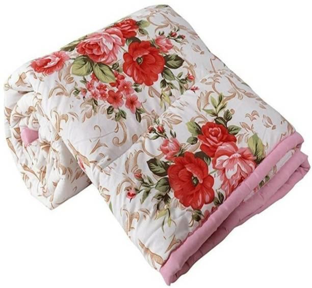 YASH BLENCKET Floral Single AC Blanket
