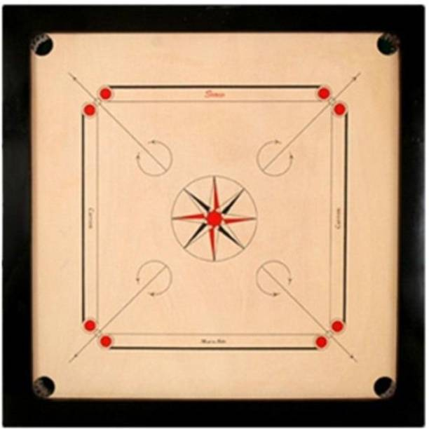 KIIMI Full Size 32 Inch Wooden Carrom Board With Crystal CoinStriker,Powder RoundPocket 5 cm Carrom Board