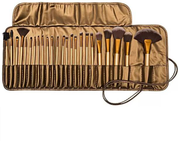 BELLA HARARO Professional Wood Make Up Brushes Set With PU Leather Storage Pouch
