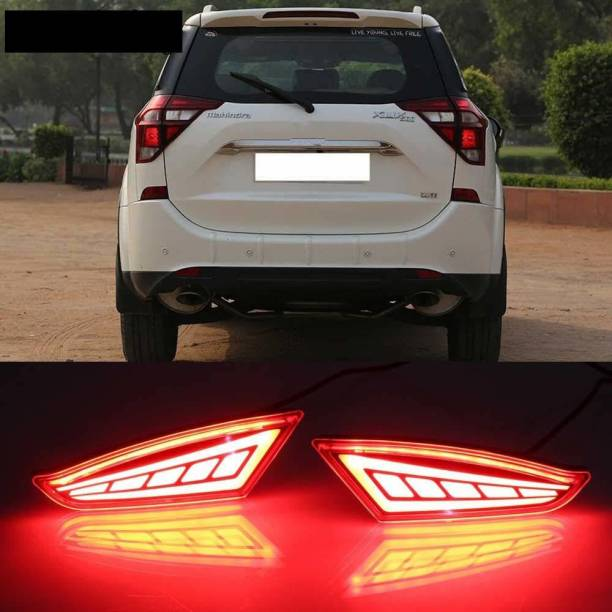 IMMUTABLE RR-245 Back Bumper Reflector LED Brake Light for Mahindra Xuv 500 Set of 2 Car Reflector Light